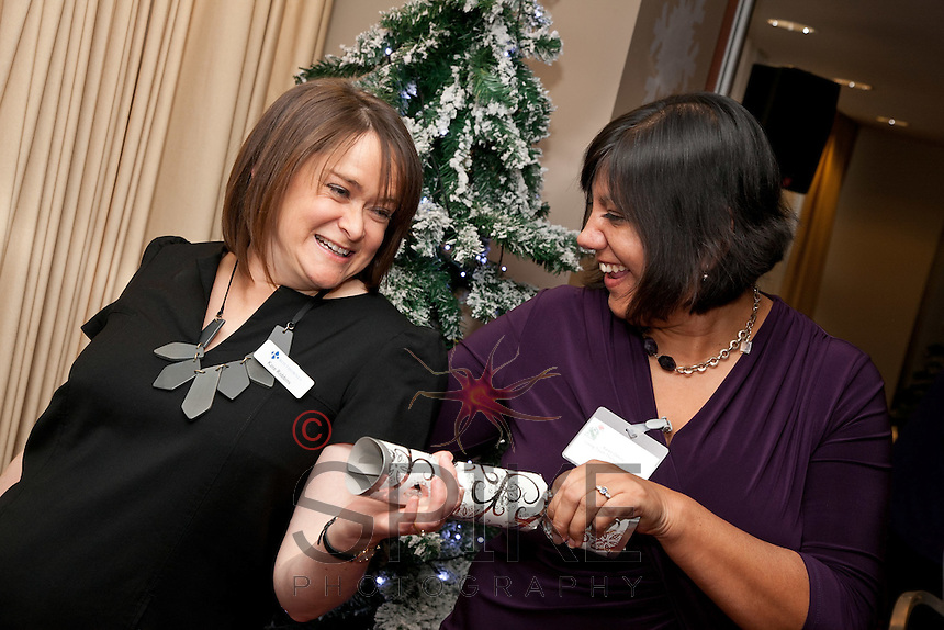 Christmas Crackers - Kate Robbins of Roythornes (left) and Karen Oehme of Loving Touch Therapies & Training