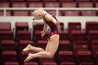 STANFORD, CA, March 3, 2014: Stanford Women's Gymnastics versus Cal at Stanford. Stanford won 196.750 to 196.025