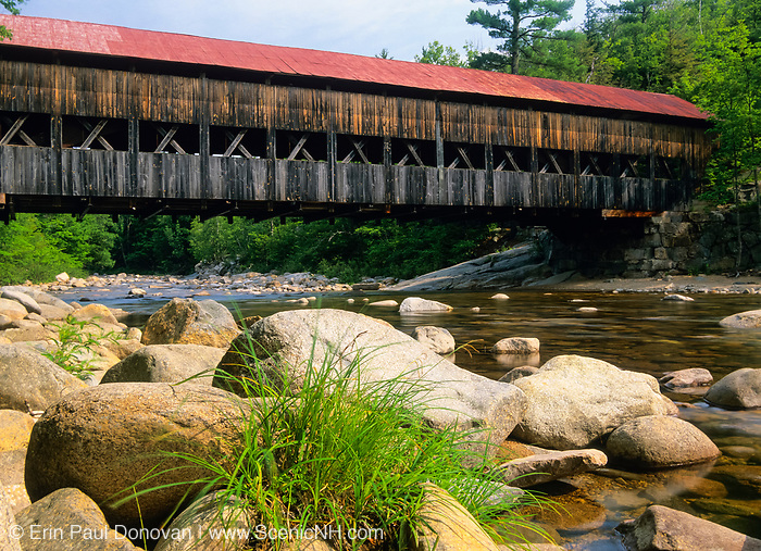Albany Covered Bridge which crosses the Swift River in Albany, New Hampshire, USA just off the Kancamagus Highway.