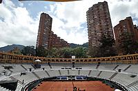 BOGOTA - COLOMBIA – 14 – 09 -2019: Plaza de Toros La Santamaria, adecuada para los partidos de la Copa Davis partidos de ascenso al Grupo Mundial de Copa Davis por BNP Paribas. / la Santamaria Ring Bull, adequacy for the matches promoted to the World Group Davis Cup by BNP Paribas, en la Plaza de Toros La Santamaria en la ciudad de Bogota.  / Photo: VizzorImage / Luis Ramirez / Staff.