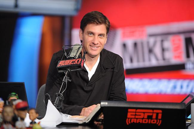 August  15, 2011 - Bristol, CT - Studio E:  Mike Greenberg and Mike Golic..Credit: Joe Faraoni/ESPN