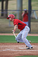 Cincinnati Reds Brantley Bell (16) during an instructional league game against the Los Angeles Dodgers on October 20, 2015 at Cameblack Ranch in Glendale, Arizona.  (Mike Janes/Four Seam Images)
