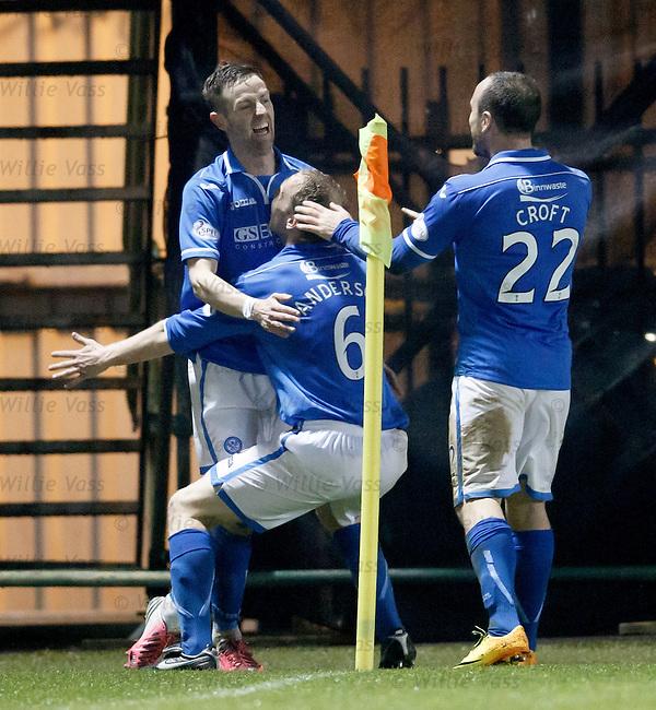 Steven Maclean celebrates his goal for St Johnstone
