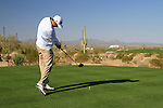 Ross Fisher tees off on the 2nd tee during Day 2 of the Accenture Match Play Championship from The Ritz-Carlton Golf Club, Dove Mountain. (Photo Eoin Clarke/Golffile 2011)
