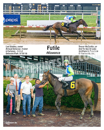Futile winning at Delaware Park on 9/19/16