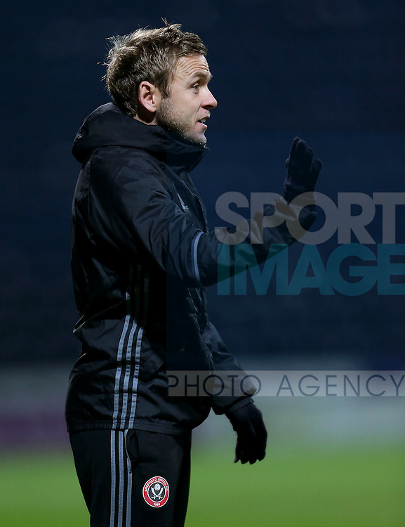 Del Geary Sheffield United coach during the FA Youth Cup 3rd Round match at Deepdale Stadium, Preston. Picture date: November 30th, 2016. Pic Matt McNulty/Sportimage