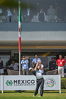 Jon Rahm (ESP) watches his tee shot on 10 during round 1 of the World Golf Championships, Mexico, Club De Golf Chapultepec, Mexico City, Mexico. 3/1/2018.<br /> Picture: Golffile | Ken Murray<br /> <br /> <br /> All photo usage must carry mandatory copyright credit (&copy; Golffile | Ken Murray)