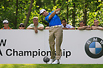 Ross Fisher tees off on the 12th tee during Round 2 of the BMW PGA Championship at  Wentworth, Surrey, England...Photo Golffile/Eoin Clarke.(Photo credit should read Eoin Clarke www.golffile.ie)....This Picture has been sent you under the condtions enclosed by:.Newsfile Ltd..The Studio,.Millmount Abbey,.Drogheda,.Co Meath..Ireland..Tel: +353(0)41-9871240.Fax: +353(0)41-9871260.GSM: +353(0)86-2500958.email: pictures@newsfile.ie.www.newsfile.ie.