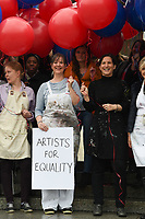 Artists stand up to art world sexism on International Women&rsquo;s Day, London.<br /> <br /> <br /> &copy;Ash Knotek  D3238  08/03/2017
