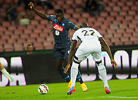 Duvan Zapata   durante l'incontro  di calco d Seriden A  tra SSC Napoli e US Palermo    allo stadio San Paolo di Napoli , 24 Settembre  2014