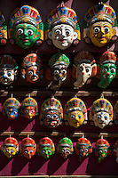 Mask and shops in Bhaktapur Temples and Palace, Nepal,