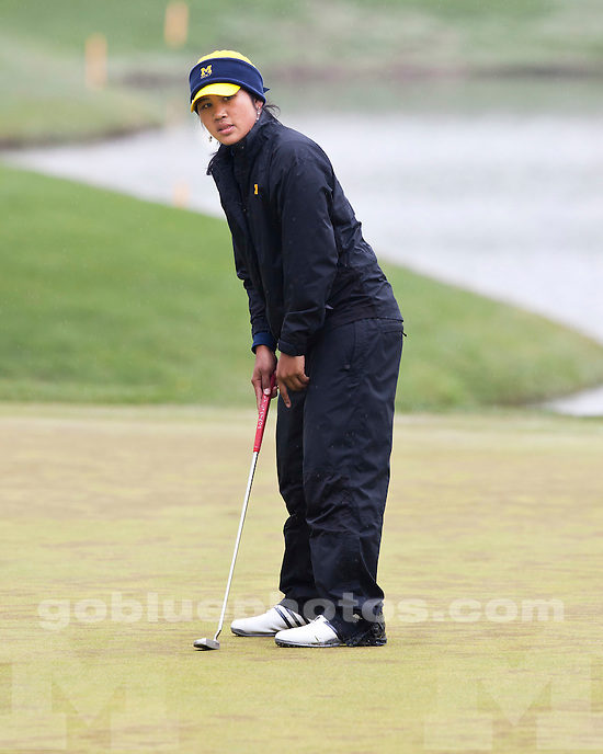 University of Michigan (women) golf team competes at the 2010 Big Ten Championships at University Ridge Golf Course in Madison, Wis., April 24, 2010.