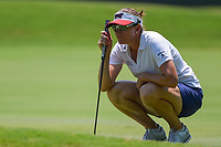 Brittany Lang (USA) lines up her putt on 4 during round 1 of the 2019 US Women's Open, Charleston Country Club, Charleston, South Carolina,  USA. 5/30/2019.<br /> Picture: Golffile | Ken Murray<br /> <br /> All photo usage must carry mandatory copyright credit (© Golffile | Ken Murray)