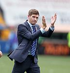 04.08.2019 Kilmarnock v Rangers: Steven Gerrard at full time