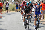 David De la Cruz (ESP) Quick-Step Floors and Mikel Nieve (ESP) Team Sky climbing during Stage 14 of the 2017 La Vuelta, running 175km from &Eacute;cija to Sierra de La Pandera, Spain. 2nd September 2017.<br /> Picture: Unipublic/&copy;photogomezsport | Cyclefile<br /> <br /> <br /> All photos usage must carry mandatory copyright credit (&copy; Cyclefile | Unipublic/&copy;photogomezsport)