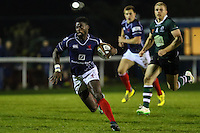Matt Williams of London Scottish in action during the Greene King IPA Championship match between London Scottish Football Club and Nottingham Rugby at Richmond Athletic Ground, Richmond, United Kingdom on 16 October 2015. Photo by David Horn.
