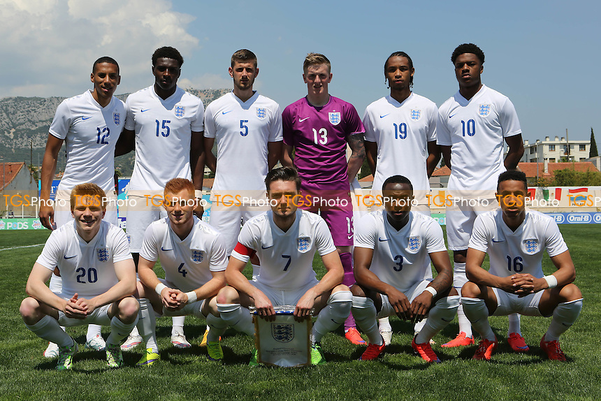 England Under 20 team photo - Ivory Coast Under-20 vs England Under-20 -2015 Toulon Tournament Football at Stade Leo Lagrange, Toulon, France - 30/05/15 - MANDATORY CREDIT: Paul Dennis/TGSPHOTO - Self billing applies where appropriate - contact@tgsphoto.co.uk - NO UNPAID USE
