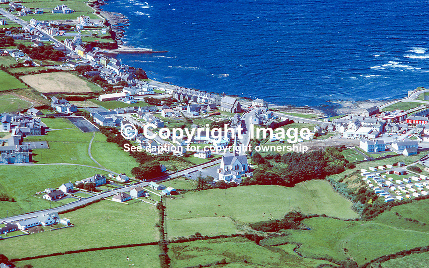 Aerial photograph, Bundoran, Co Donegal, Rep of Ireland, 19790164d..Copyright Image from Victor Patterson, 54 Dorchester Park, Belfast, UK, BT9 6RJ..Tel: +44 28 9066 1296.Mob: +44 7802 353836.Voicemail +44 20 8816 7153.Skype: victorpattersonbelfast.Email: victorpatterson@me.com.Email: victorpatterson@ireland.com (back-up)..IMPORTANT: If you wish to use this image or any other of my images please go to www.victorpatterson.com and click on the Terms & Conditions. Then contact me by email or phone with the reference number(s) of the image(s) concerned.