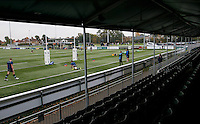 A view from the Damian Bugeja stand during the Greene King IPA Championship match between Ealing Trailfinders and Bedford Blues at Castle Bar , West Ealing , England  on 29 October 2016. Photo by Carlton Myrie / PRiME Media