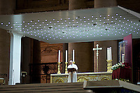 Roma, 7 Settembre, 2013. Papa Francesco in Piazza San Pietro durante la veglia di preghiera contro l'intervento armato in Siria e contro tutte le guerre