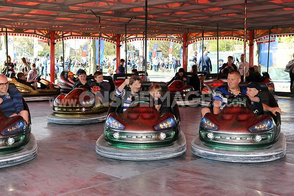 A general view of supporters enjoying the Dodgems. The Clash, Aviva Premiership match, between Bath Rugby and Leicester Tigers on April 8, 2017 at Twickenham Stadium in London, England. Photo by: Rob Munro / Onside Images