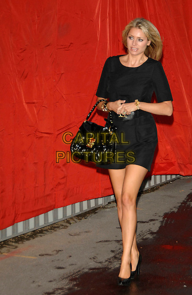 TESS DALY.F1 Party hosted by the Great Ormond Street Hospital Children's Charity, at The Worx..4th July 2007 London, UK.full length black dress heels shoes patent leather bag purse daley.CAP/PL.©Phil Loftus/Capital Pictures