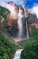793050047 view of angel falls and ayuan tepui from the overlook in canaima national park venezuela