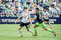 Seattle, Washington - July 19, 2014: Seattle Sounders FC tie England's Tottenham Hotspur 3-3 in an international friendly match at CenturyLink Field.