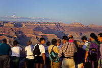 Tourists at Mather Point on the south rim of Grand Canyon, Arizona, USA