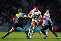 Will Spencer of Leicester Tigers takes on the Harlequins defence. Gallagher Premiership match, between Harlequins and Leicester Tigers on May 3, 2019 at the Twickenham Stoop in London, England. Photo by: Patrick Khachfe / JMP