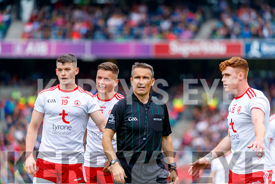 Referee Maurice Deegan during the All Ireland Senior Football Semi Final between Kerry and Tyrone at Croke Park, Dublin on Sunday.