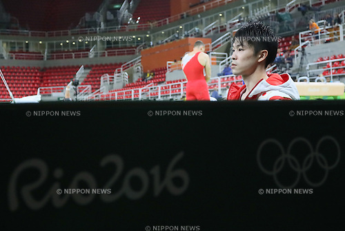 Kohei Uchimura (JPN), <br /> AUGUST 3, 2016 - Artistic Gymnastics : <br /> Men's Official Training <br /> Rings <br /> at Rio Olympic Arena <br /> during the Rio 2016 Olympic Games in Rio de Janeiro, Brazil. <br /> (Photo by YUTAKA/AFLO SPORT)