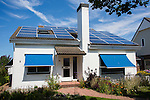 Solar panels on a Dutch house