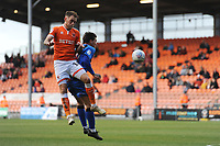 Blackpool's Harry Pritchard vies for possession with Gillingham's Darren Oldaker<br /> <br /> Photographer Kevin Barnes/CameraSport<br /> <br /> The EFL Sky Bet League One - Blackpool v Gillingham - Saturday 4th May 2019 - Bloomfield Road - Blackpool<br /> <br /> World Copyright © 2019 CameraSport. All rights reserved. 43 Linden Ave. Countesthorpe. Leicester. England. LE8 5PG - Tel: +44 (0) 116 277 4147 - admin@camerasport.com - www.camerasport.com