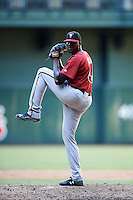 Arizona Diamondbacks pitcher Jeferson Mejia (48) during an Instructional League game against the Oakland Athletics on October 15, 2016 at Chase Field in Phoenix, Arizona.  (Mike Janes/Four Seam Images)