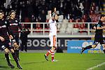 2016-01-30 / Voetbal / Seizoen 2015-2016 / R. Antwerp FC - KSK Heist / Joeri Dequevy viert zijn doelpunt (2-0)<br /> <br /> Foto: Mpics.be