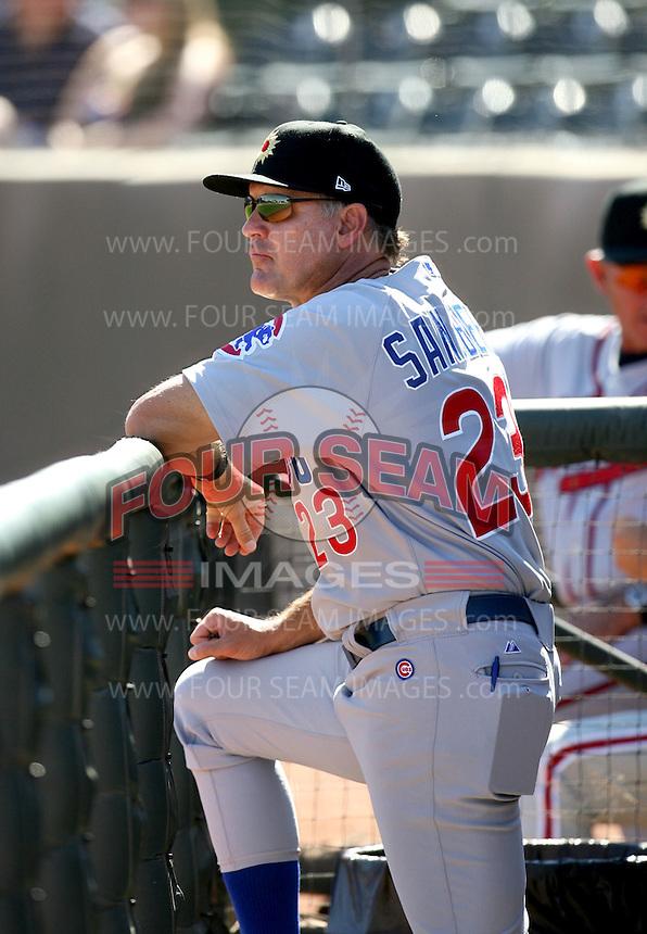Ryne Sandberg / Mesa Solar Sox 2008 Arizona Fall League..Photo by:  Bill Mitchell/Four Seam Images