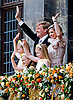 "30.04.2013; Amsterdam: KING WILLEM-ALEXANDER AND QUEEN MAXIMA WITH CHILDREN (Princess Amalia, Princess of Orange, Princess Alexia, Princess Ariane).after the Abdication, appear on the balcony of the Royal Palace, Amsterdam, The Netherlands..Mandatory Credit Photos: ©NEWSPIX INTERNATIONAL..**ALL FEES PAYABLE TO: ""NEWSPIX INTERNATIONAL""**..PHOTO CREDIT MANDATORY!!: NEWSPIX INTERNATIONAL(Failure to credit will incur a surcharge of 100% of reproduction fees)..IMMEDIATE CONFIRMATION OF USAGE REQUIRED:.Newspix International, 31 Chinnery Hill, Bishop's Stortford, ENGLAND CM23 3PS.Tel:+441279 324672  ; Fax: +441279656877.Mobile:  0777568 1153.e-mail: info@newspixinternational.co.uk"