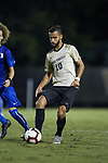 Bruno Lapa (10) of the Wake Forest Demon Deacons passes the ball during first half action against the Duke Blue Devils at W. Dennie Spry Soccer Stadium on September 29, 2018 in Winston-Salem, North Carolina.  The Demon Deacons defeated the Blue Devils 4-2.  (Brian Westerholt/Sports On Film)