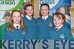 TABLE QUIZ: Maryanne Brassil, Ciara Holmes, Christine O'Sullivan and Ada O'Connor students from Scoil Eoin Baiste, Tralee at the Credit Union table quiz in the Gleneagle hotel, Killarney on Sunday.