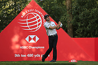 Kevin Kisner (USA) on the 9th tee during round 1 at the WGC HSBC Champions, Sheshan Golf Club, Shanghai, China. 31/10/2019.<br /> Picture Fran Caffrey / Golffile.ie<br /> <br /> All photo usage must carry mandatory copyright credit (© Golffile | Fran Caffrey)
