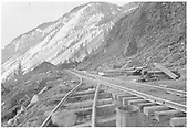 RGS trackage at the site of the Ames Slide.<br /> RGS  Ames, CO