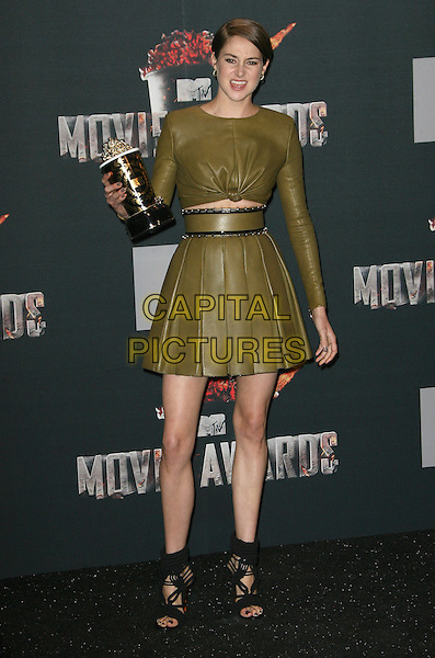 13 April 2014 - Los Angeles, California - Shailene Woodley. 2014 MTV Movie Awards held at Nokia Theatre L.A. Live. <br /> CAP/ADM<br /> &copy;AdMedia/Capital Pictures