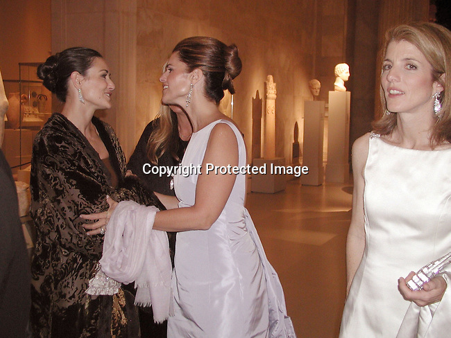 Demi Moore, Maria Shriver, Caroline Kennedy.Gala Evening at Metropolitan Celebrates Jacqueline Kennedy to Benefit the Museum's Costume Institute.Metropolitan Museum.New York, NY, USA.April 23, 2001.Photo by CelebrityVibe.com