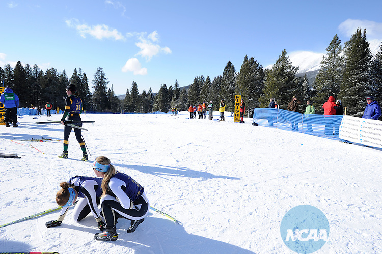 07 MAR 2012:  Racers compete during Women's Freestyle Cross Country event at the NCAA Division I Men and Women's Ski Championship held at Bohart Ranch hosted by Montana State University in Bozeman, MT. Brett Wilhelm/NCAA Photos.
