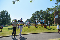 Adam Long (USA) and Rafael Cabrera Bello (ESP) make their way to the tee on 2 during round 4 of the WGC FedEx St. Jude Invitational, TPC Southwind, Memphis, Tennessee, USA. 7/28/2019.<br /> Picture Ken Murray / Golffile.ie<br /> <br /> All photo usage must carry mandatory copyright credit (© Golffile | Ken Murray)