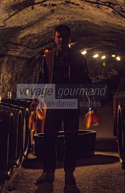 Europe/Hongrie/Tokay/Env Sarospatak: Alain Rousse (oenologue) dans les caves du château Megyer