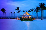 The Tiki Bar on the beach at the Tranquility Bay Beach House Resort located in the Florida Keys community of Marathon.  Photographed for Coastal Living Magazine.
