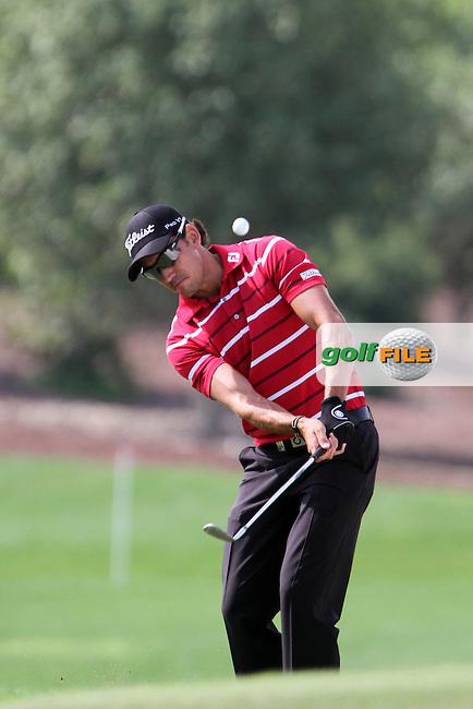 Rafa Cabrera-Bello (ESP) on the 9th during Round 2 of the DP World Tour Championship, Jumeirah Golf Estates, Dubai, United Arab Emirates. 23/11/12...(Photo Jenny Matthews/www.golffile.ie)
