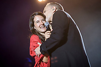 Spanish Singer Miguel Bose in collaboration with mexican singer Ximena Sariñana during the first stop of his tour 'Estaré' at Wizink Center in Madrid, June 23, 2017. Spain.<br /> (ALTERPHOTOS/BorjaB.Hojas) (NortePhoto.com) (NortePhoto.com)